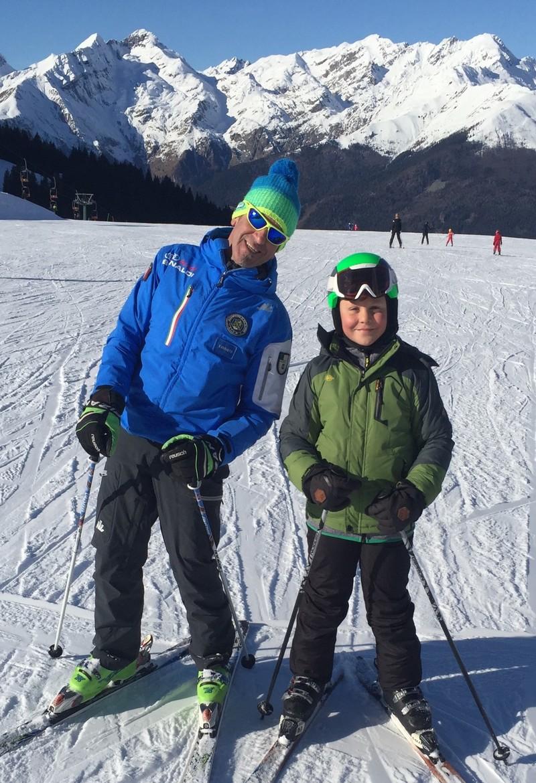 Imparare a sciare da bambino